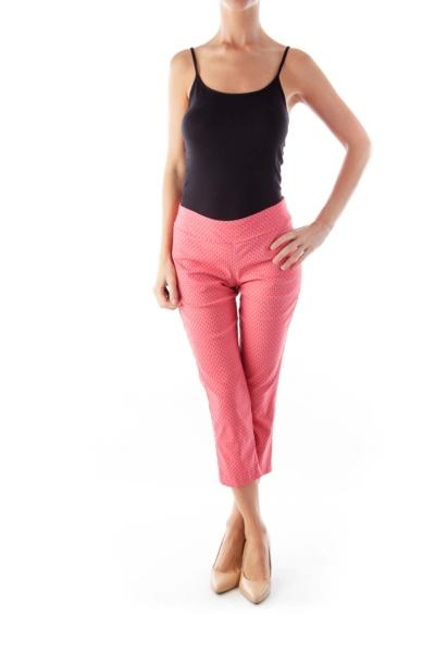 Pink Print Crop Pants