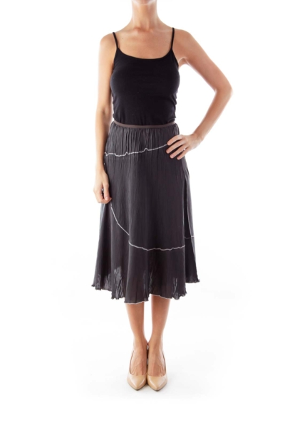 Dark Gray A Line Skirt