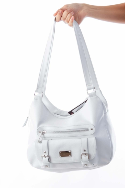 Light Gray Dahlia Bag