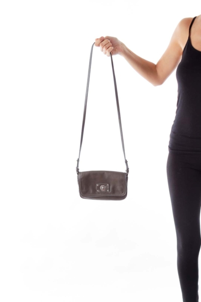 Dark Gray Mini Crossbody