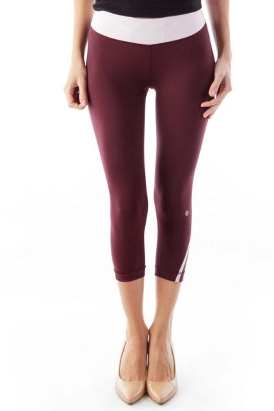 Burgundy Crop Pants
