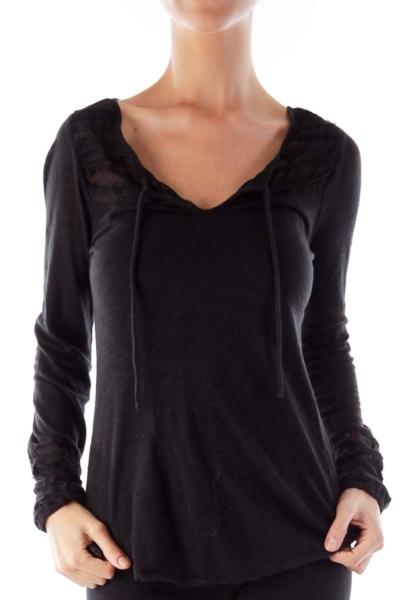 Black Trim Detail Shirt