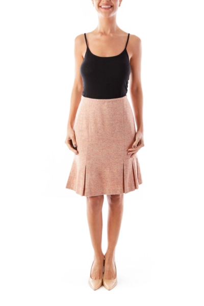 Peach Pink Wool Skirt