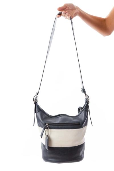 Navy & White Shoulder Bag