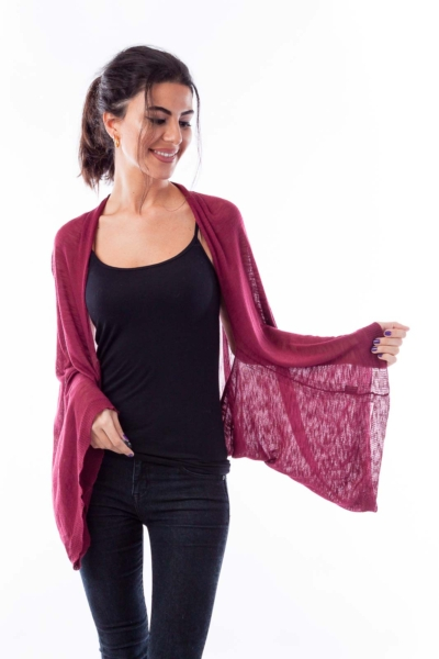 Dark Pink Scarfy Jacket