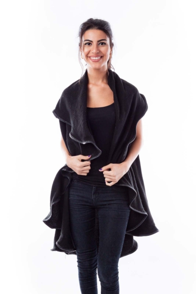 Black Wrapy Jacket