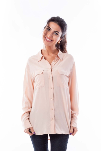 Peach Silk Top