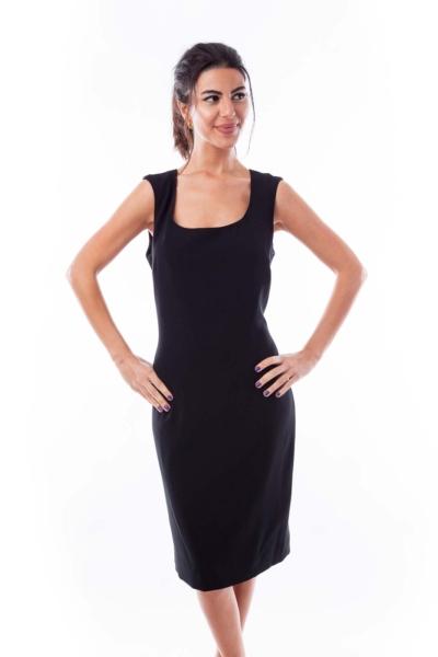Black Sleeveless Roundneck Dress
