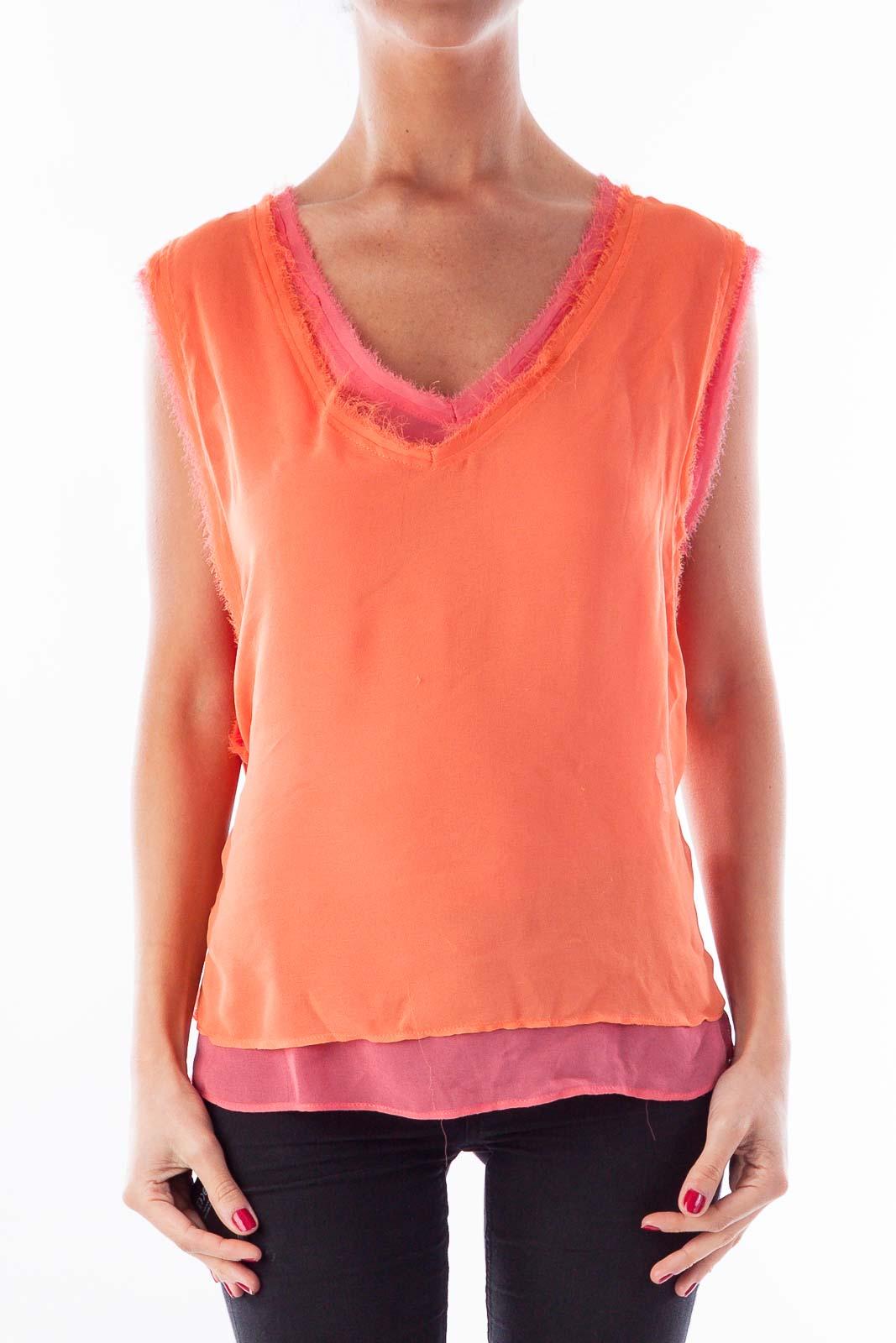 Orange & Pink Layer Tank