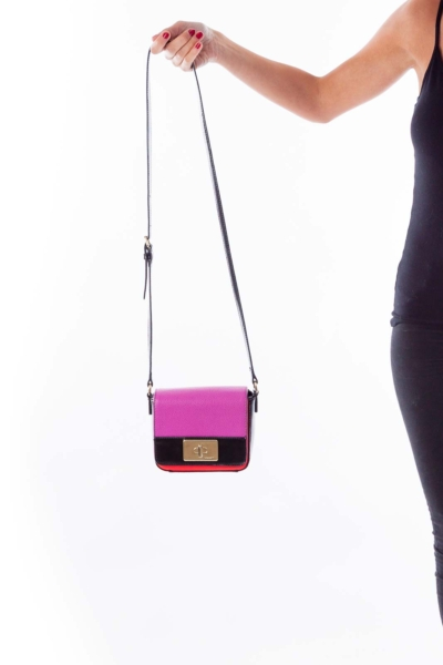 Color Block Mini Faux Leather Purse