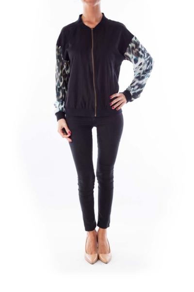 Black Cheetah Print Jacket