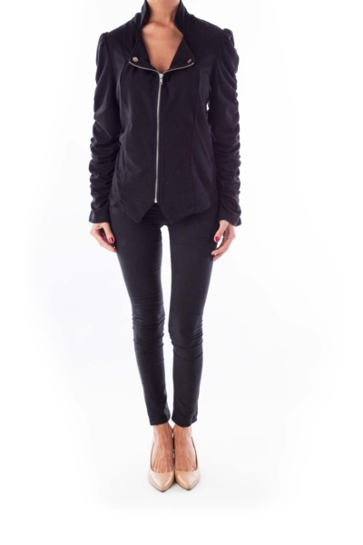 Black Zippered Jacket