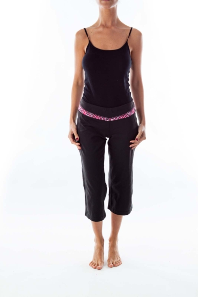 Black Cropped Yoga Pants