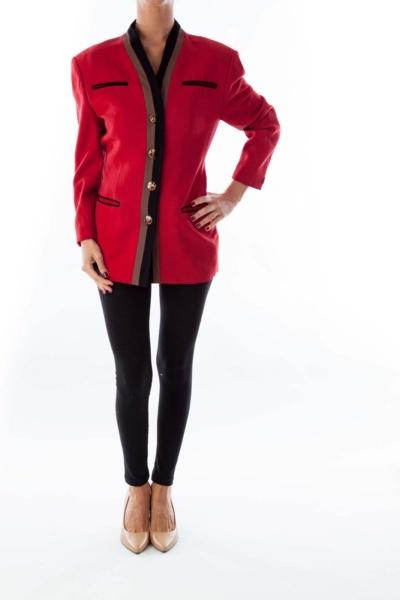 Red Vintage Suit Jacket