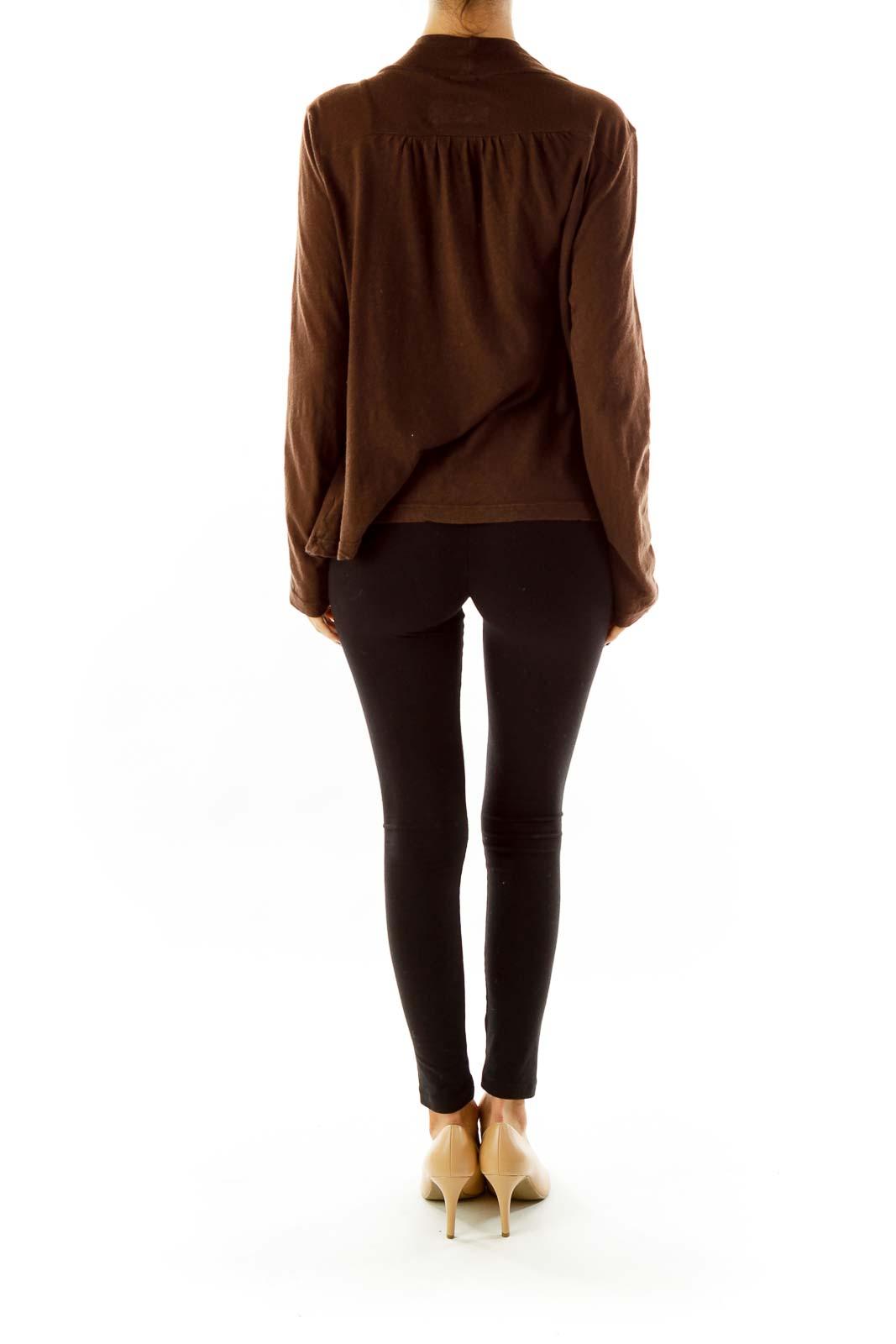Brown Jersey Cardigan