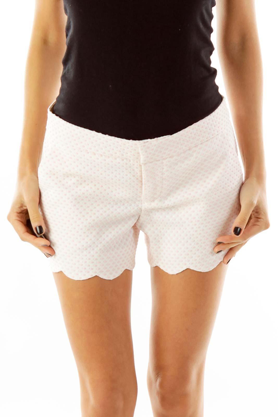 Pink & White Polka-Dot Shorts