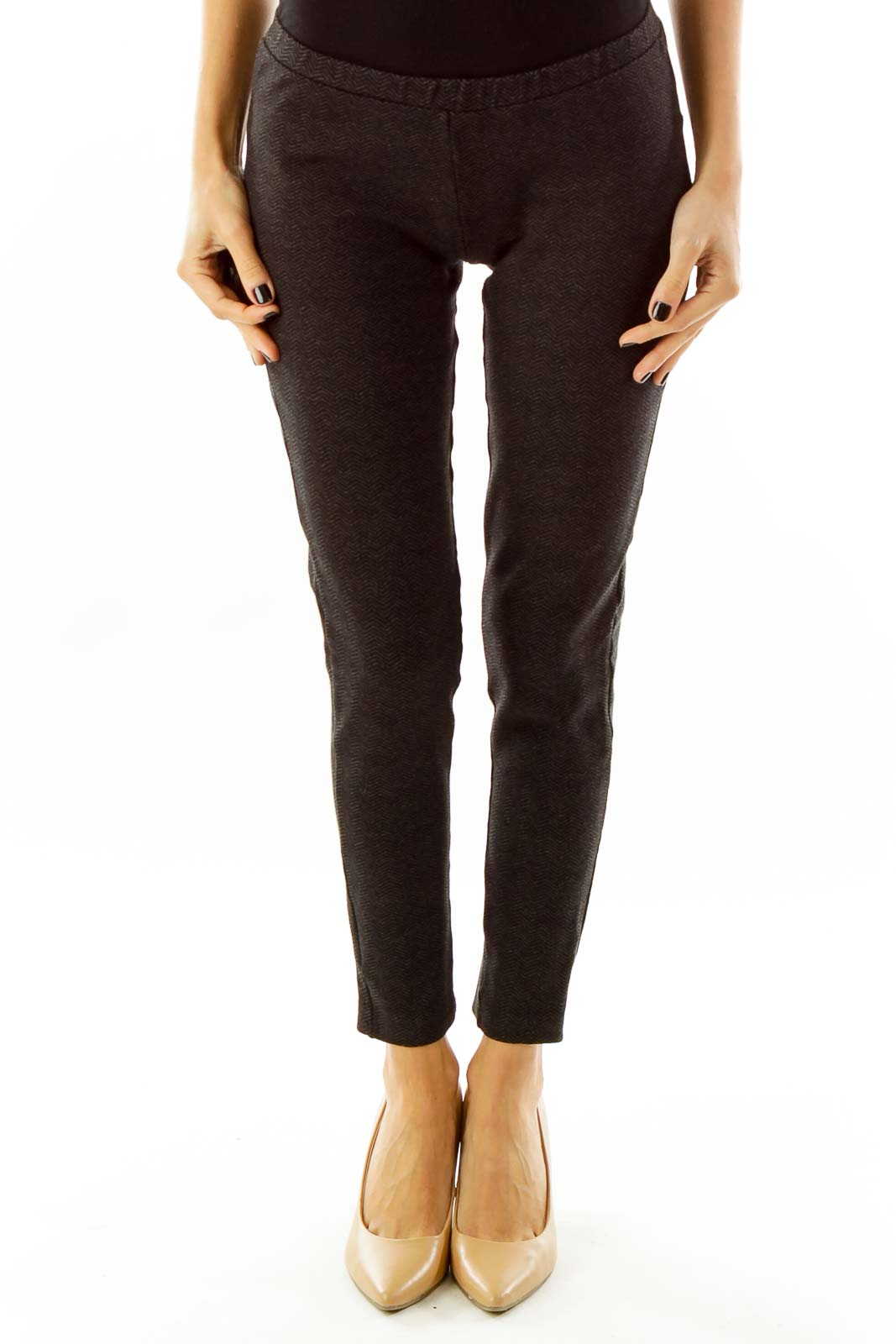 Black & Grey Print Jogger Pants
