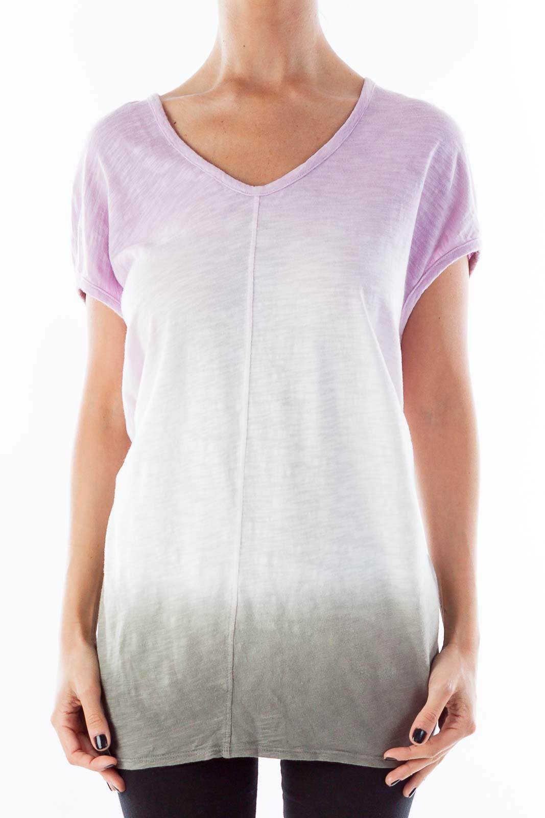 Purple & Grey Oversize Top