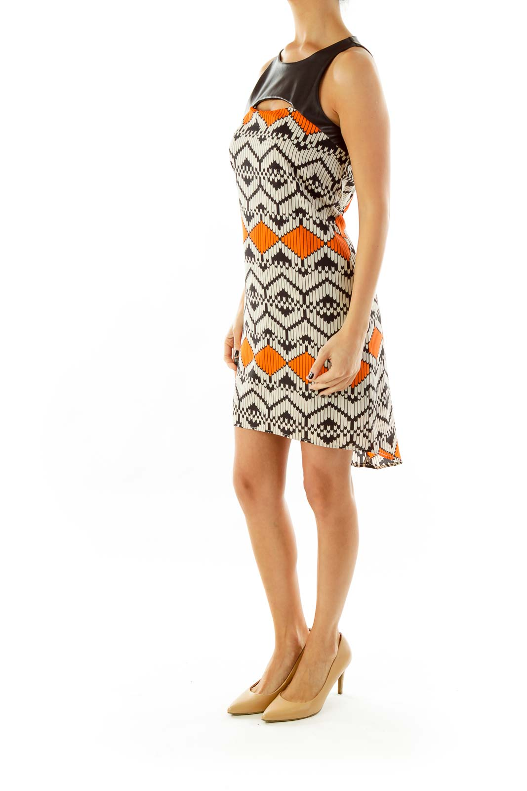 Black & Orange Shift Dress