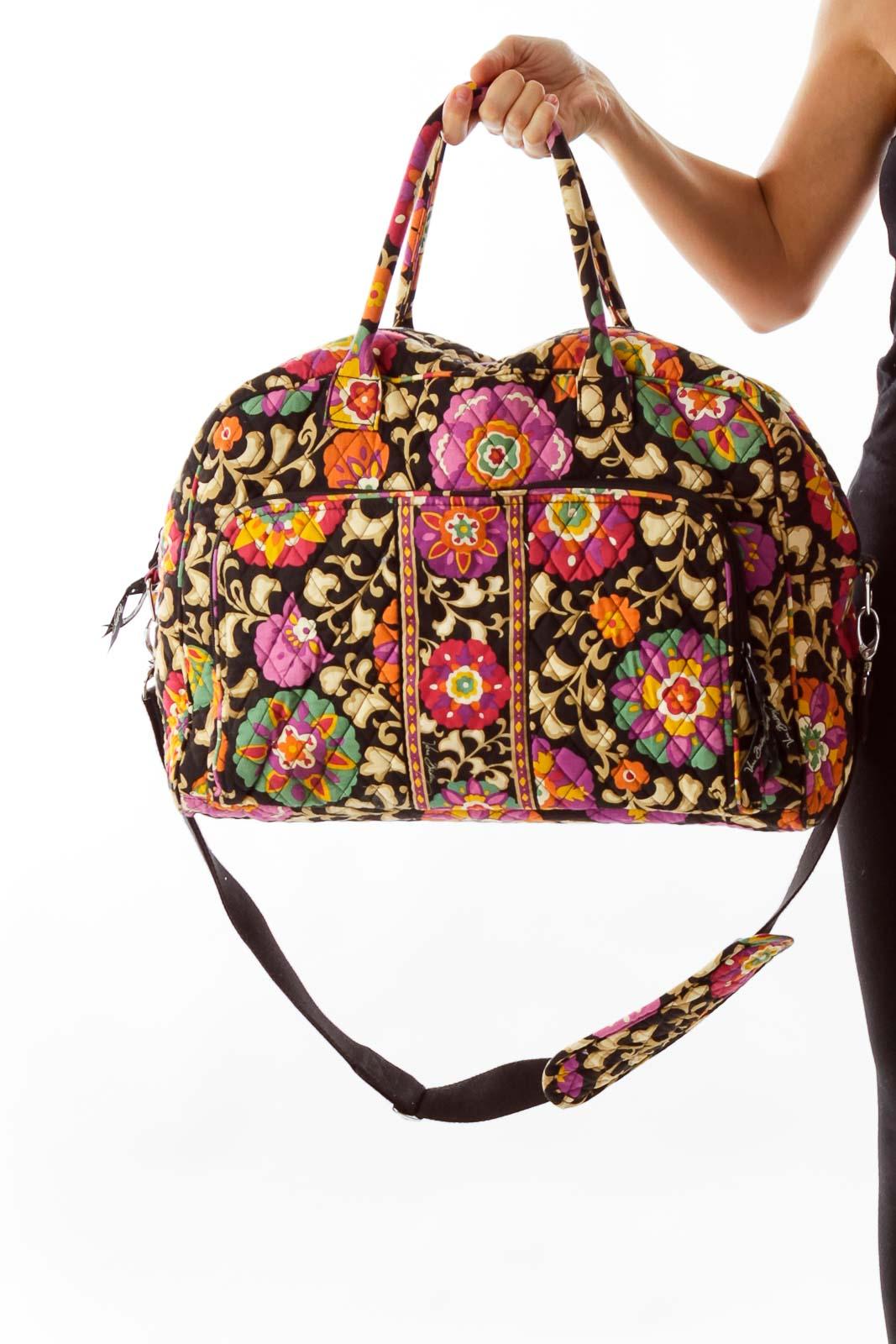Multicolor Flower Print Duffle