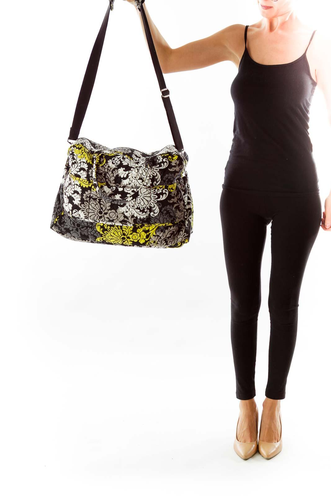 dc587f6fe633e Shop Black, White, Yellow Flower Print Duffle clothing and handbags ...