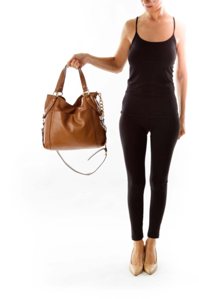 Brown Leather Tote*