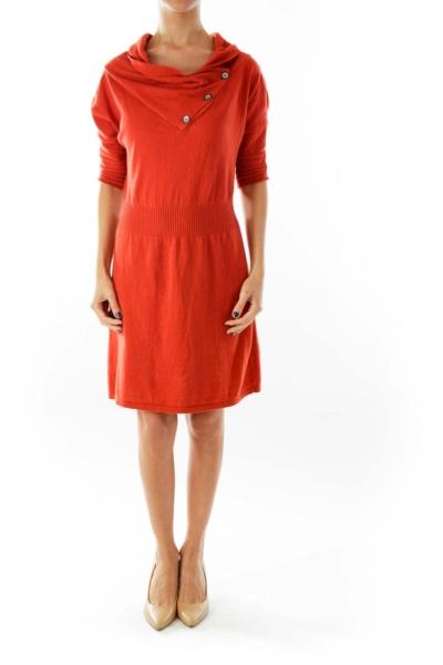 Orange Knit Dress