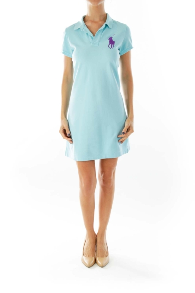 Blue Polo Shirt-Dress