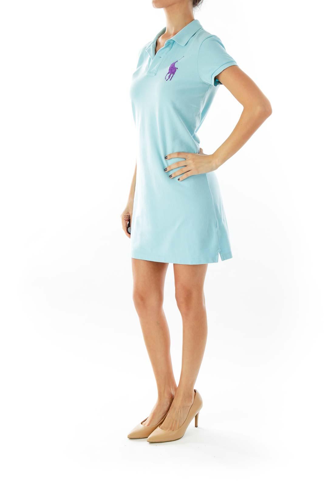 Blue Polo Shirt-Dress