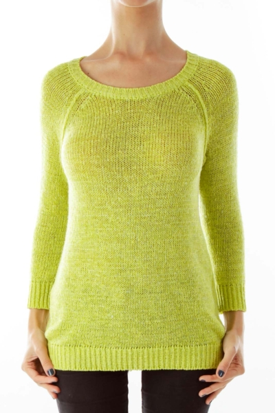 Green Knit Sparkle Sweater