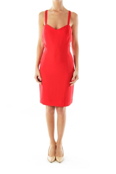 Red Fitted Cocktail Dress