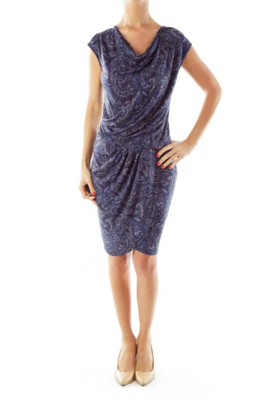 Purple Paisley Day Dress