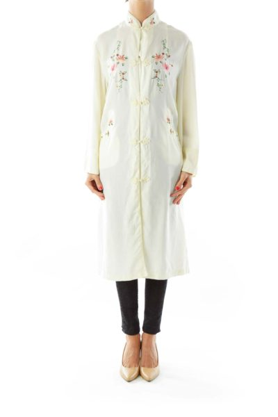 Yellow Embroidered Long Tunic*
