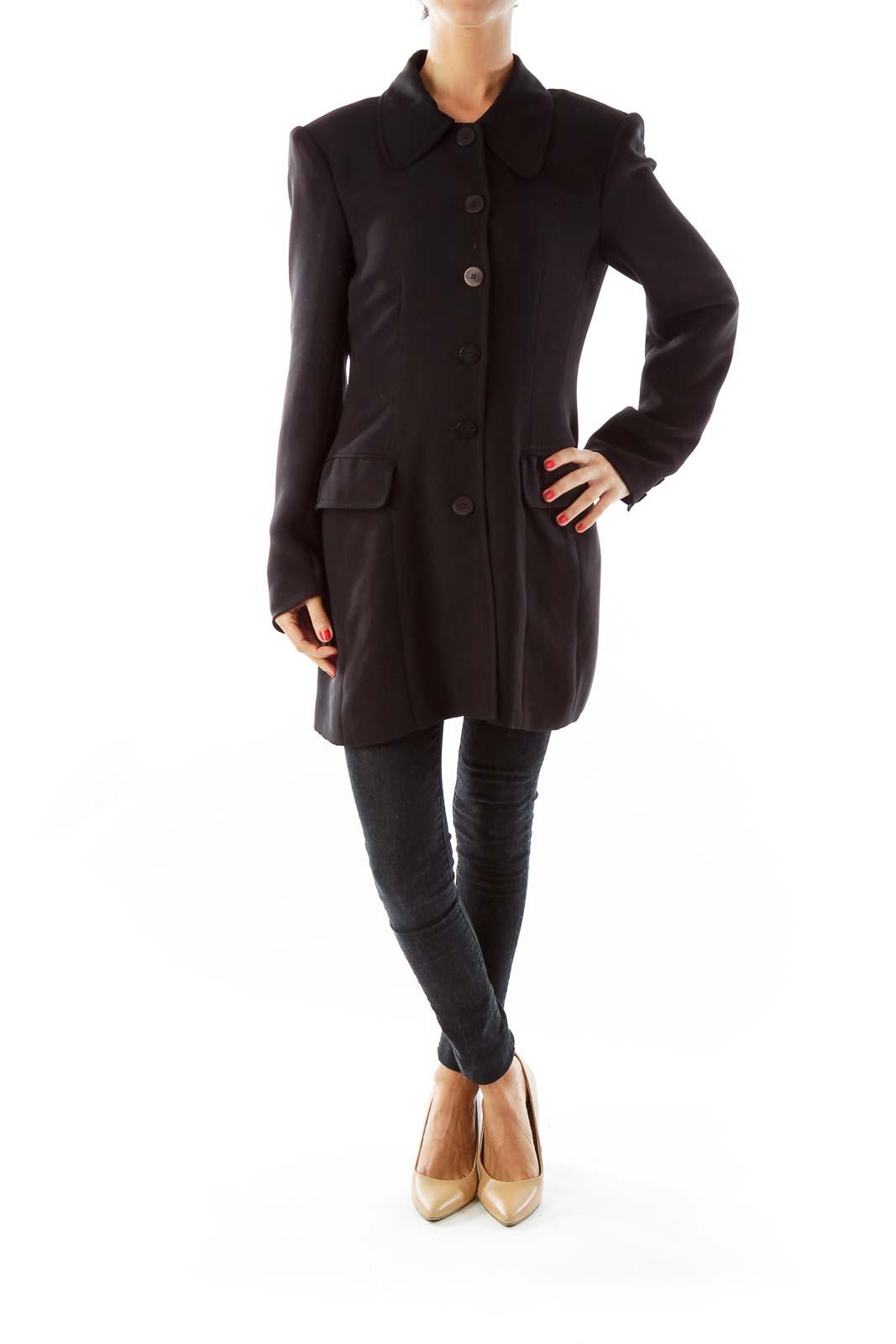 Black Single-Breasted Coat
