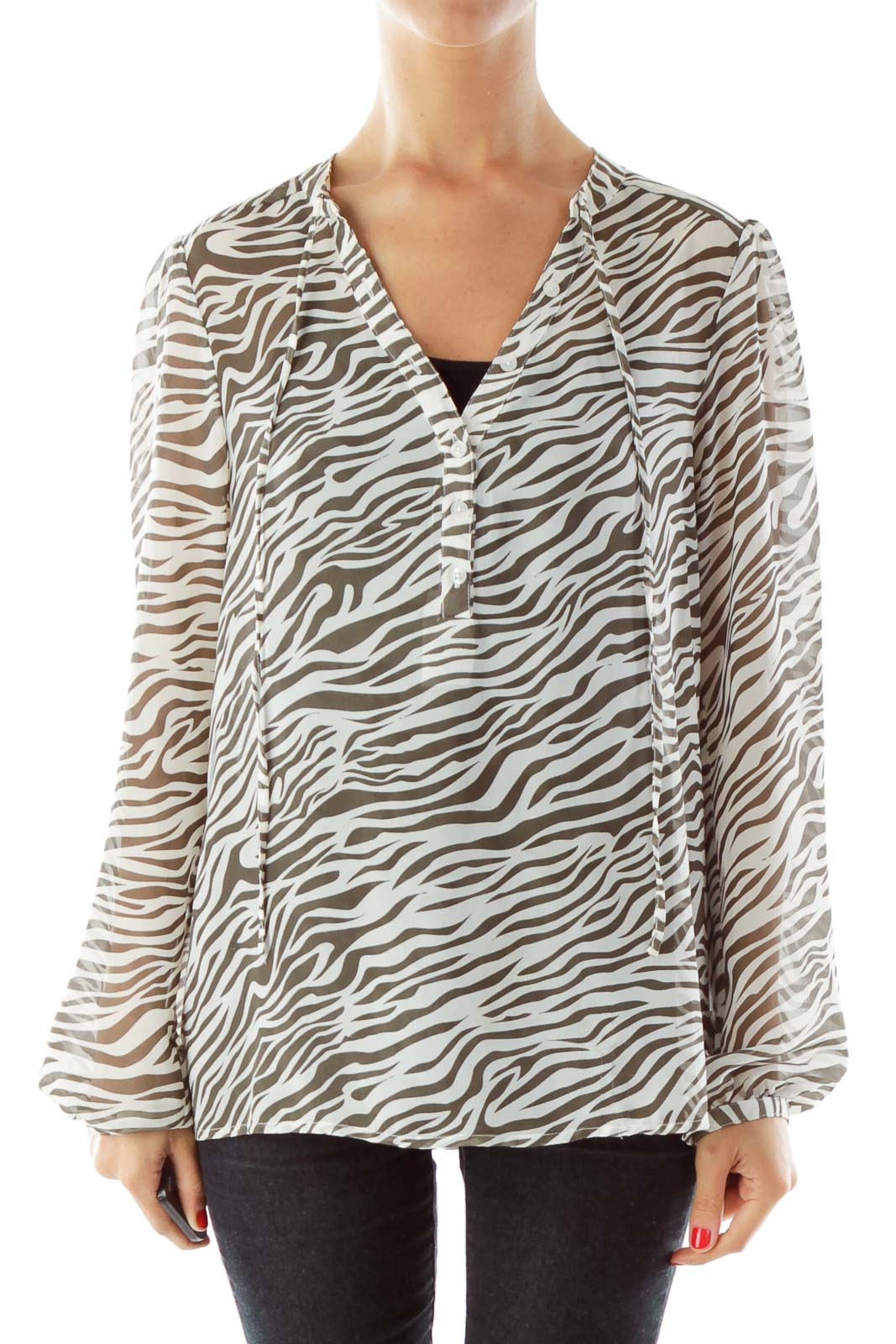 Black & White Zebra Print Loose Top