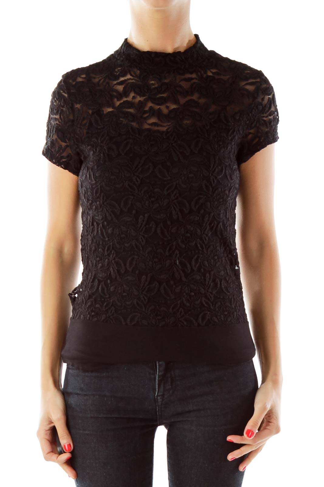 Black Lace Body Suit