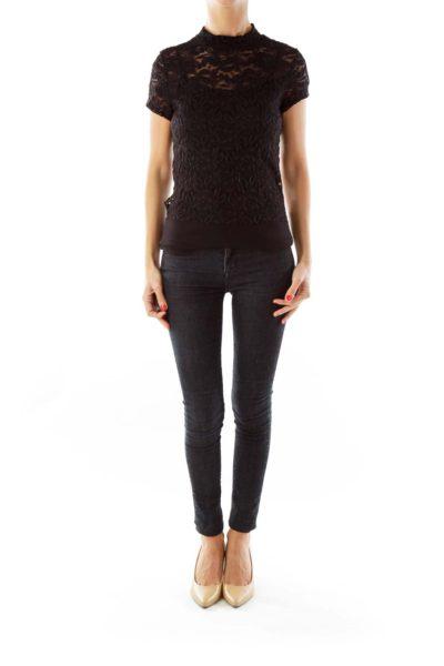 Black Lace Body Suit
