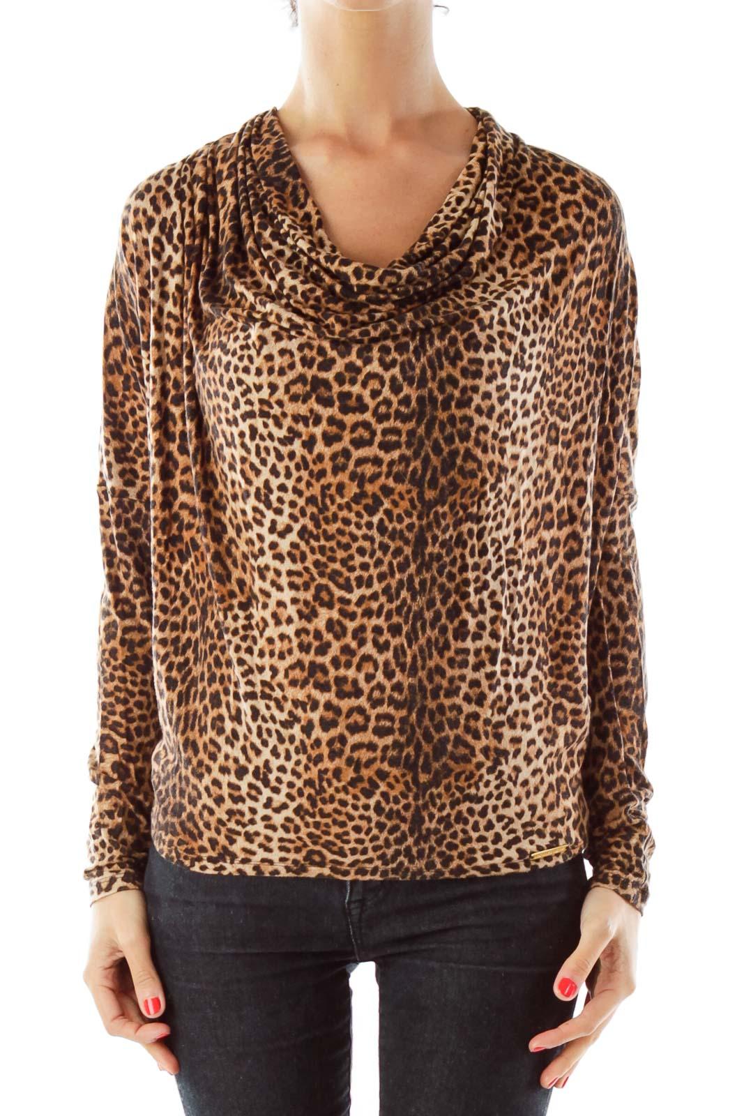 303e2b23cafc4 Brown black cheetah print top silkroll jpg 1067x1600 Cheetah print top