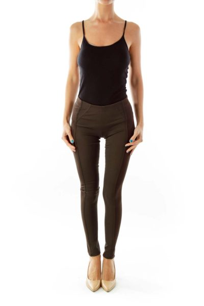 Brown Skinny Legging