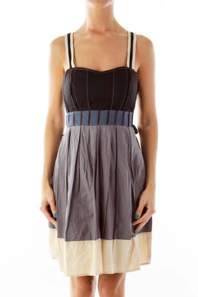 Multicolor Empire Waist Dress