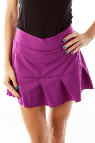 Purple Pleated Tennis Skirt