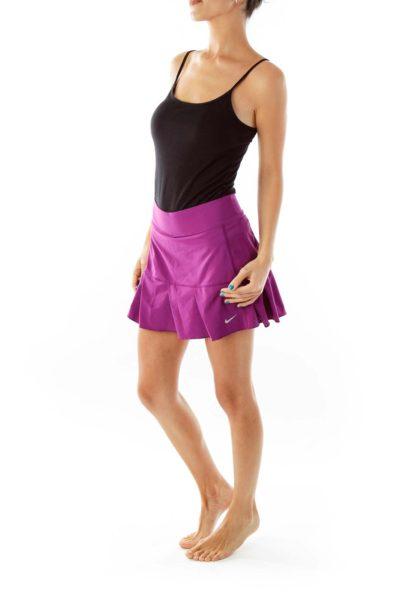 Purple Pleated Tennis Skirt