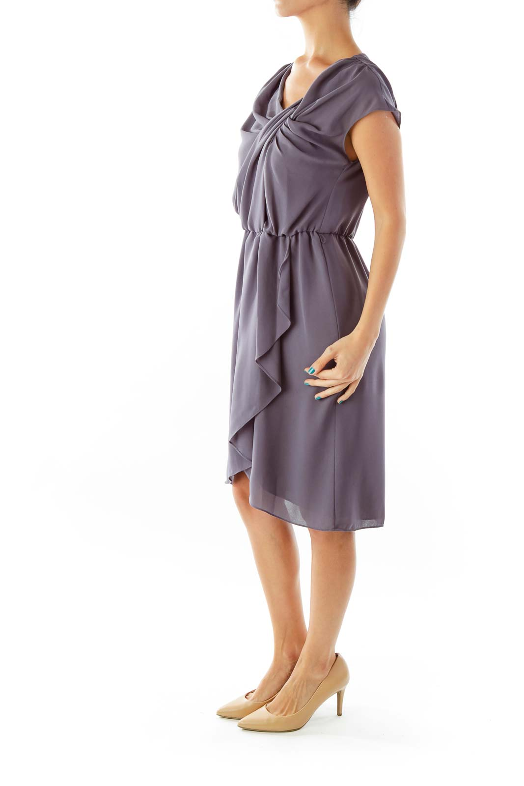 Blue Gray Work Dress