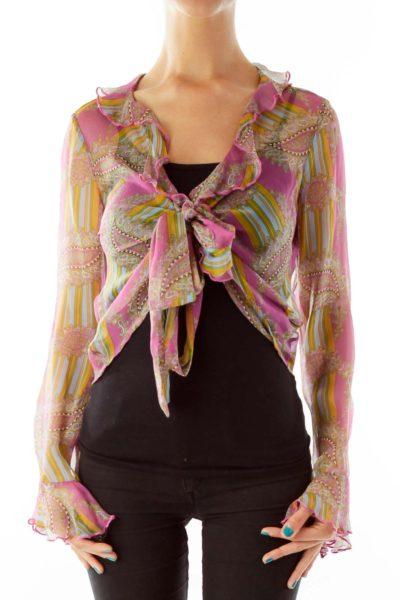 Pink Paisley Sheer Blouse