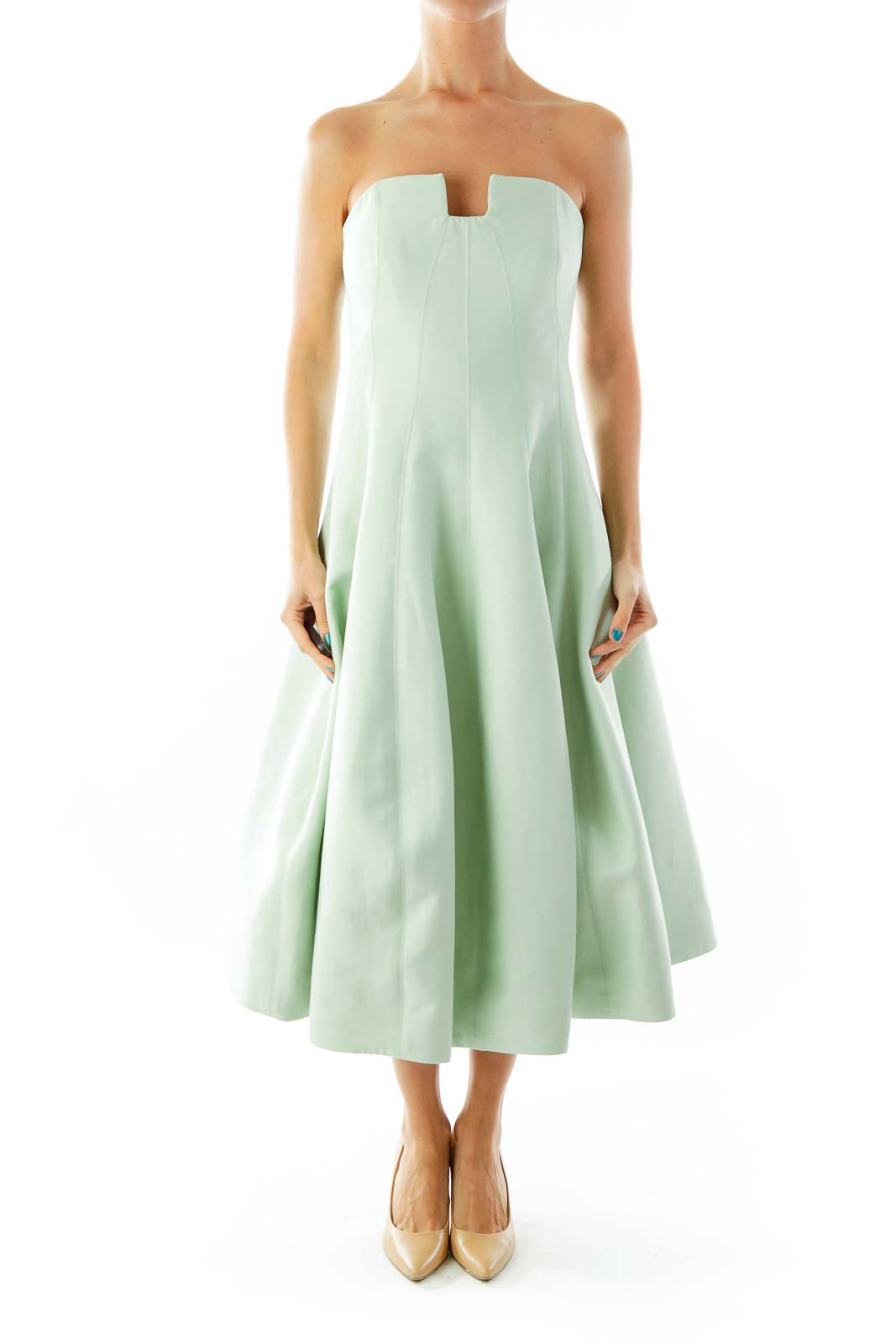 Shop Sea Green Strapless Evening Dress clothing and handbags at ... e4596dee046f0