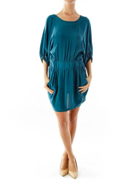 Turquoise Pocketed Day Dress