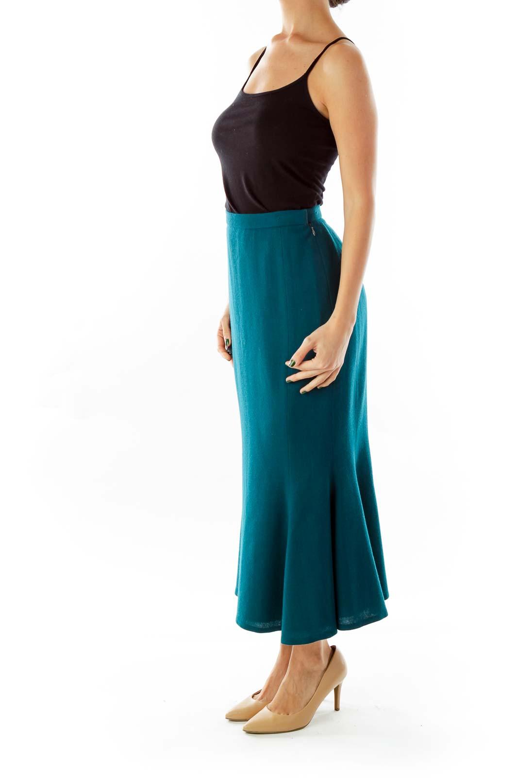 Turquoise Vintage Trumpet Skirt