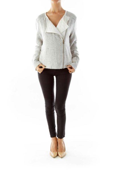 Black & White Tweed Jacket