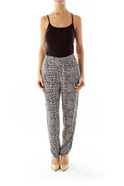 Black & White Printed Pants