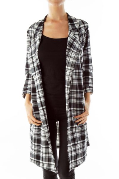 Black & White Plaid Blazer
